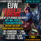 League of Legends Account LOL Euw Unranked Lvl 30 All Champs Smurf Skins Gold