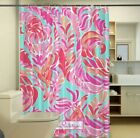 "New Lilly Pulitzer Love Birds Spring Custom Print Shower Curtain Size 60"" x 72"""