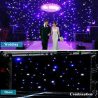 Kyпить US 20x10FT / 3X2M White & Blue LED Stage Star Wedding Curtain Retardant Backdrop на еВаy.соm