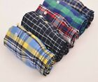 Boxer Shorts Men Cotton Comfortable Soft Underwear Plaid Loose