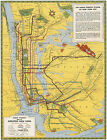 Rapid Transit Map of Greater New York Vintage Wall Art Poster Print Decor