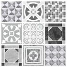 Grey Shades Patterned Mosaic Kitchen Tile Stickers Transfers 150mm / 6 Inch G05