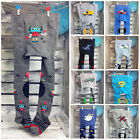 Baby Boy Cotton Tights Pants Double Anti Slip ABS Sole Crawling Knee RA-25@