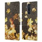 PLDESIGN FLOWERS AND LEAVES LEATHER BOOK WALLET CASE FOR MICROSOFT NOKIA PHONES
