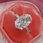 New Cubic Zirconia Sterling Silver Plated Womens Engagement Wedding Jewelry Ring