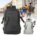 Mens Womens USB with Charger Port Backpack Travel School Bag for Laptop Notebook