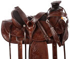 Western Saddle 14 15 16 Cowboy A Fork Ranch Work Roping Leather Horse Tack Set