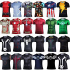 Men Marvel Avengers Superhero T-Shirt Compression Sports Running Jersey Tops Tee image