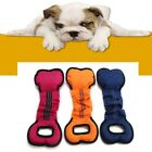 Pet Dog Anti-tearing Canvas Fabric Rope Chewing Toy Puppy Teeth Training Trainer