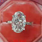 Uk Fashion Women Cubic Zirconia Silver Plated Wedding Engagement Jewellery Ring
