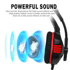 Overhead Gaming Headphones LED Stereo Earphones Soft Pads for PS4/PS3/xBox
