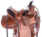 Roping Saddle 12 13 Western Quarter Horse Children Rough Out Leather Kids Tack