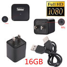 HD 1080P Spy Hidden Camera USB Wall Charger Adapter Video Recorder Security Cam