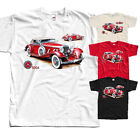 Mercedes 500K, car poster, T-Shirt (WHITE,BLACK,RED) All sizes S-5XL  image