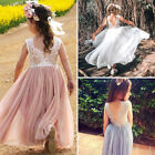 Kyпить US Kids Baby Flower Girl Dress Lace Tulle Party Gown Bridesmaid Dresses Sundress на еВаy.соm