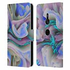 OFFICIAL HAROULITA FLORAL GLITCH LEATHER BOOK WALLET CASE FOR SONY PHONES 1