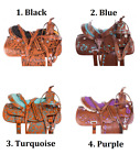 Horse Saddle Western 16 17 in Cowgirl Trail Riding Show Leather Tack Set