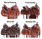 Used Trail Saddle 15 16 17 18 in Beautiful Classic Leather Western Horse Tack