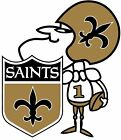 NEW ORLEANS SAINTS NFL DECAL STICKER 3M USA TRUCK HELMET VEHICLE WINDOW WALL CAR $24.99 USD on eBay