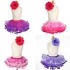 Ombre Multicolored TUTU SKIRT Girls Princess Pageant Birthday Party Costume