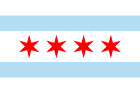 CITY OF CHICAGO FLAG DECAL STICKER 3M USA MADE TRUCK VEHICLE WINDOW WALL CAR
