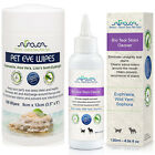 Tear Stain Remover for Dogs Eye Wipes Natural White Puppy Cat Bulldog Maltese