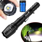 120000LM T6 LED ZOOM Rechargeable High Power Torch Flashlight Lamp Light Charger