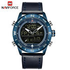 NAVIFORCE Mens Sports Watches LED Military Leather Analog Quartz Wristwatch 9144Wristwatches - 31387