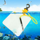 Swimming Writing Gear Scuba Underwater Slate Board with Snap Clip/Pencil Diving