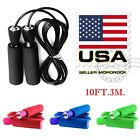 Gym Aerobic Exercise Boxing Skipping Jump Rope Adjustable Bearing Speed Fitness image