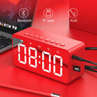 Mirror Smart Bluetooth Alarm Clock Speaker with Mic Music Player AUX TF hs2