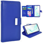 Double Flap Pocket Leather Wallet Case Accessories For Samsung Galaxy Smartpone