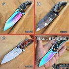 "8"" BALL BEARING FOLDING HUNTING CLEAVER KNIFE CAMPING POCKET KNIFE SURVIVAL TOOL $17.0 USD on eBay"