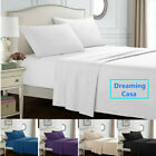 Hotel Luxury 1800 Count 4P Bed Sheet Set Deep Pocket Wrinkle Free Fitted Flat H9 image