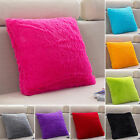 Fleece Warm Plush Square Throw Pillow Case Sofa Waist Cushion Cover Home Decor image