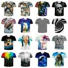 Unisex 3D Creative Print Men Women Short Sleeve T-Shirt Casual Graphic Tee Tops