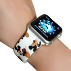Soft Silicone Watchband For Apple Watch 1/2/345 Series Band Cartoon Mickey Strap image