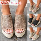 Fashion  Women Platform Wedge Shoes Peep Toe Weaving Sandals Fish Mouth Shoes