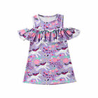 Toddler Kids Baby Girls Dresses Short Sleeve Clothes Princess Party Dresses