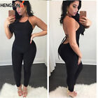 Black Sexy Women Sling Backless Jumpsuit Bodycon Romper Trousers Party Clubwear