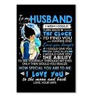 To My Husband Poster - Vegeta and Bulma Poster I Love You Poster Canvas All Size