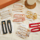 Sequins Hollow Hair Clip Women Acrylic Rectangle Tin Foil Hairpins Barrette New