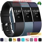 Genuine Silicone Watch Wrist Sports Band Strap For Fitbit Charge 2 Wristband