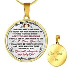 StoreInventorymom to proud daughter gift idea from mother mommy unique novelty luxury necklace