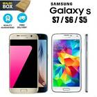 "Samsung Galaxy S7 S6 S5 Unlocked Sim Free Smartphone 32 16 Gb 5.1"" Android Phone"
