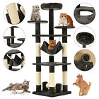 "52"" 62"" 72"" Cat Tree Condo Tower Climbing Scratching Post Kitty Pet Play House"
