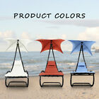 Outdoor Patio Chaise Lounge Chair W/ Canopy Garden Porch Pool Chaise Rocker Desk