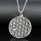 Jewelry Flower Of Life Pendant Necklace Silver Chain Sacred Geometry Cool Cute