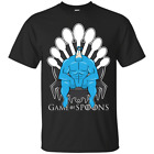 Game of Spoons The Tick Spoon Game Of Thrones Superheroes Black T-Shirt S-6XL
