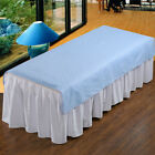 Stripe Beauty Massage Table Cover SPA Treatment Plain Flat Sheet